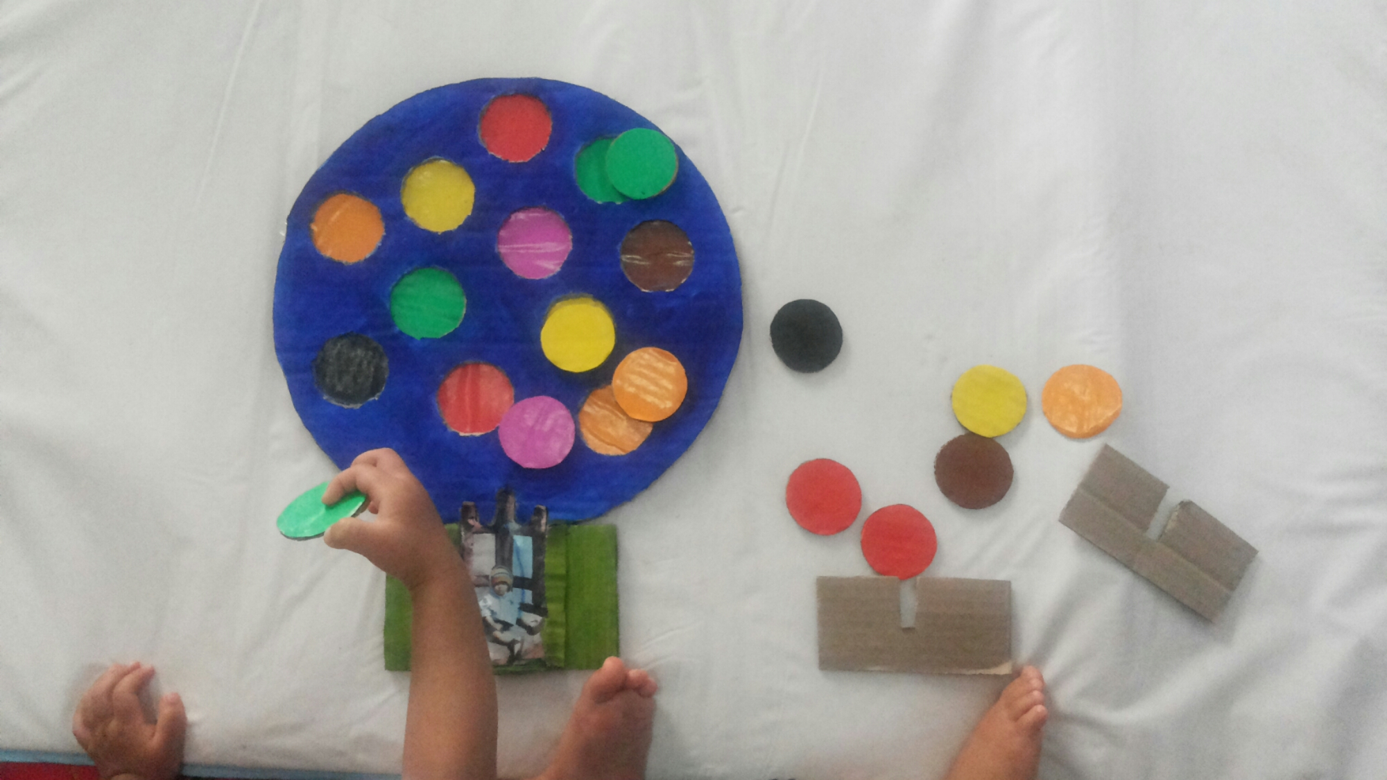 Color Hot Baloon Puzzle with Frame