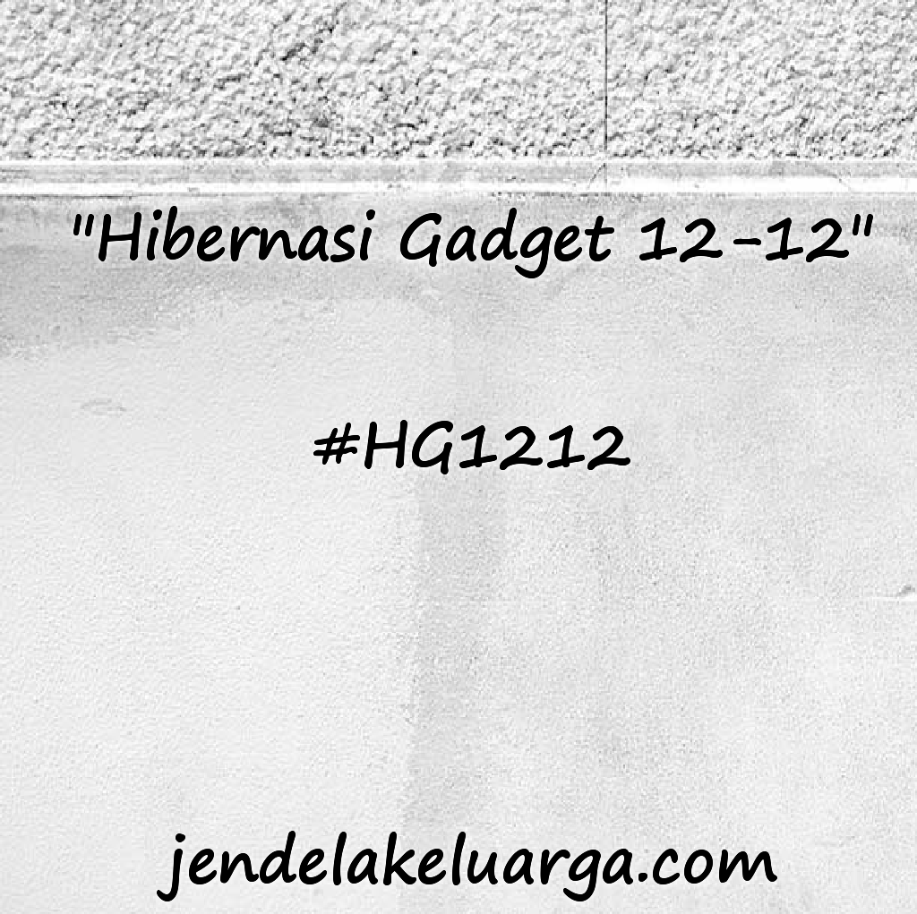 "Gerakan ""Hibernasi Gadget 12-12"""